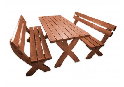 wooden garden set terrace furniture table bench